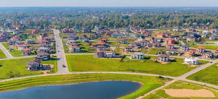 Строящийся поселок Онегин парк